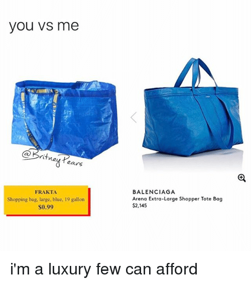 27dcb2134232 You VS Me Kriti Tears FRAKTA Shopping Bag Large Blue 19 Gallon  099 ...