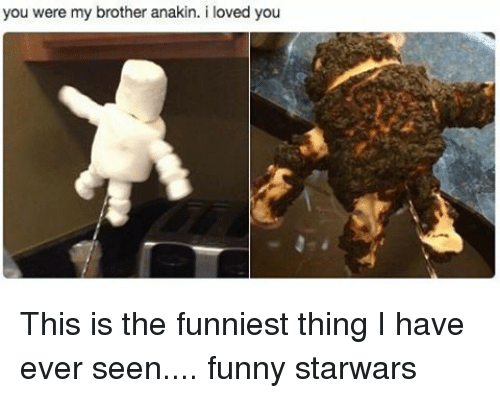 Funniest Meme Ever Seen : You were my brother anakin i loved this is the