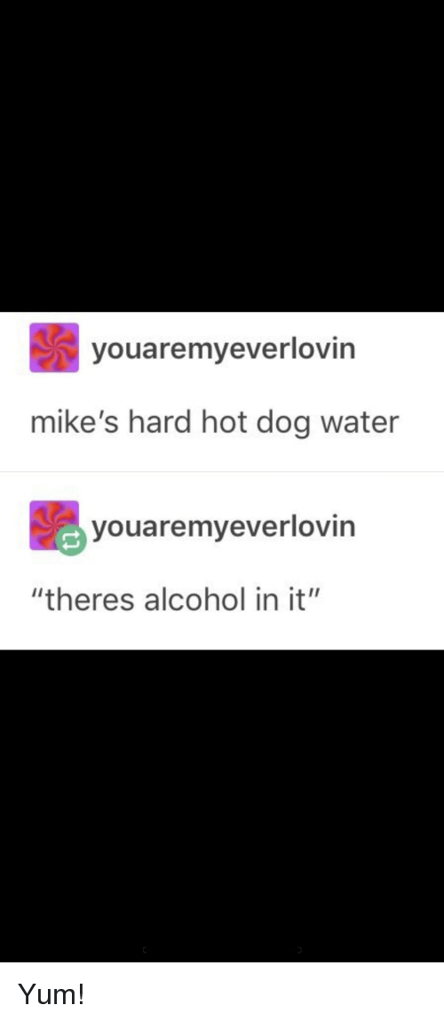 "Tumblr, Alcohol, and Water: youaremyeverlovin  mike's hard hot dog water  youaremyeverlovin  ""theres alcohol in it"""