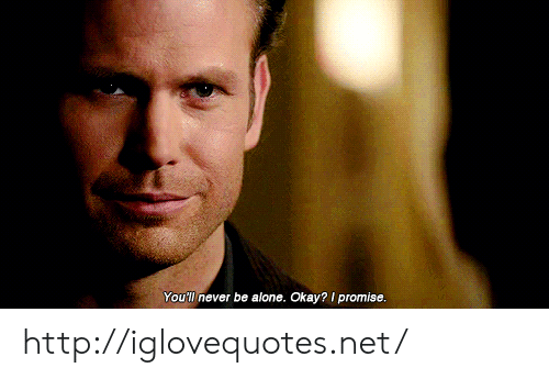 Being Alone, Http, and Okay: You'l never be alone. Okay? promise http://iglovequotes.net/