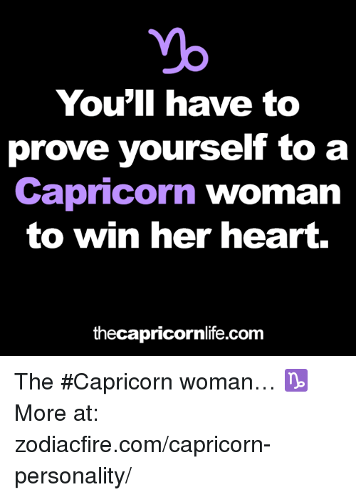 How to win a capricorn woman