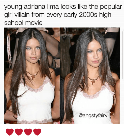 Young Adriana Lima Looks Like the Popular Girl Villain From