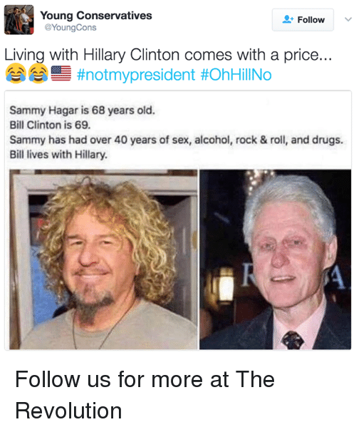 Bill Clinton Drugs And Hillary Clinton Young Conservatives Follow Cons Young Living