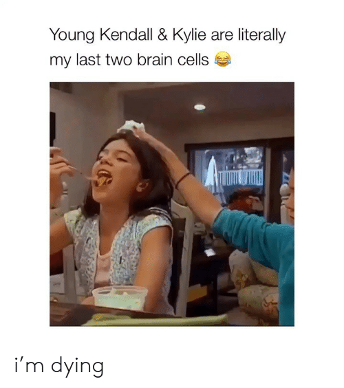 Brain, Girl Memes, and Kylie: Young Kendall & Kylie are literally  my last two brain cells i'm dying