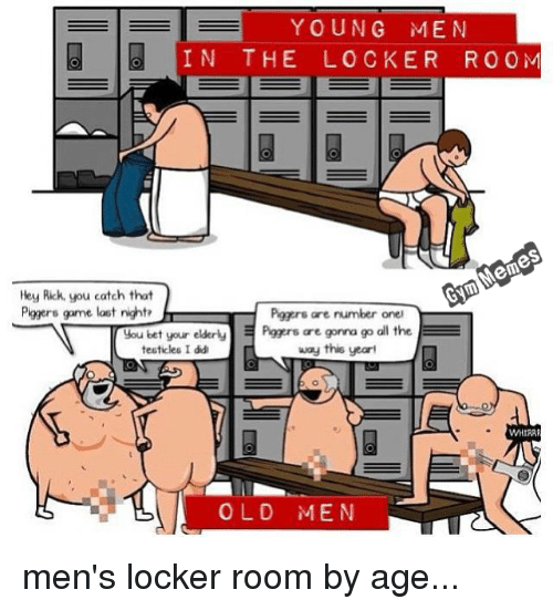 locker room men Mature