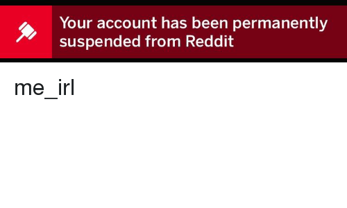 Your Account Has Been Permanently Suspended From Reddit | Reddit