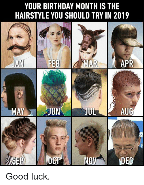 Your Birthday Month Is The Hairstyle You Should Try In 2019 Ul Aug