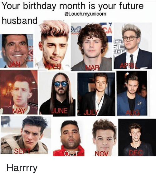 Birthday Future And Memes Your Month Is Husband Loueh