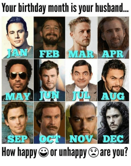 Birthday Memes And Happy Your Month Is Husband JAN FEB MAR