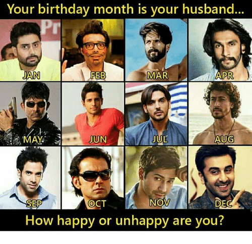 Birthday Memes And Happy Your Month Is Husband JAN