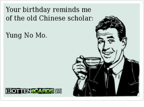 Your Birthday of the Old Chinese Scholar Reminds Me Yung No Mo OTTEN ... f436aa97b