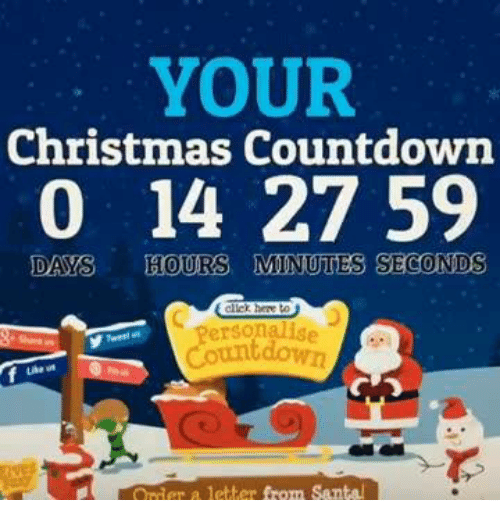 ✅ 25+ Best Memes About Christmas Countdown | Christmas Countdown ...