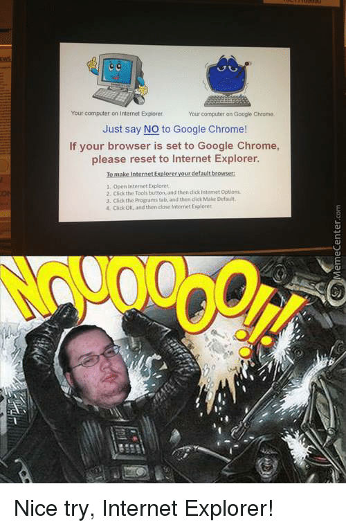 your computer on internet explorer your computer on google chrome 13027857 25 best jibun wo memes browsers memes, browser history memes