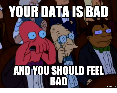 Image result for bad data meme