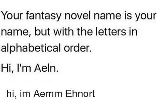 Memes And Fantasy Your Novel Name Is But