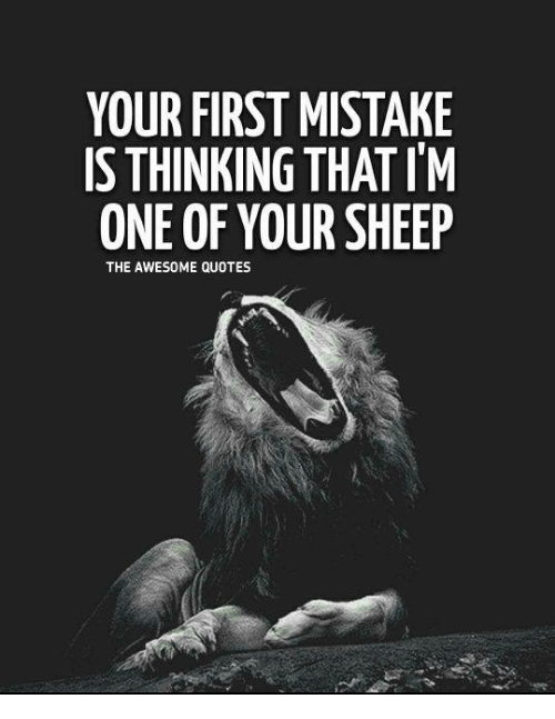 Your First Mistake Is Thinking That Im One Of Your Sheep The