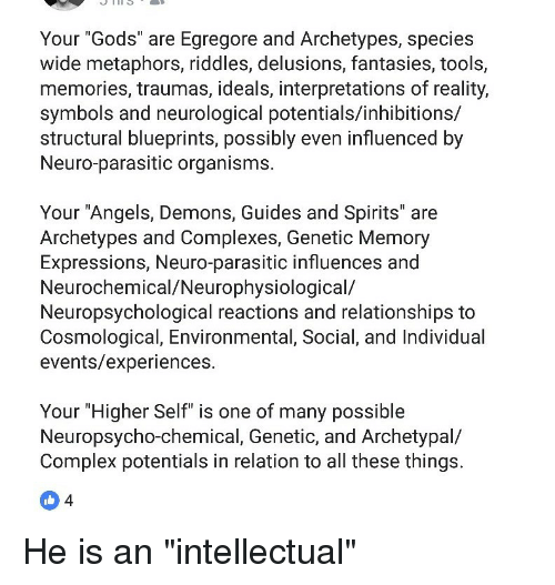 Your Gods Are Egregore and Archetypes Species Wide Metaphors Riddles