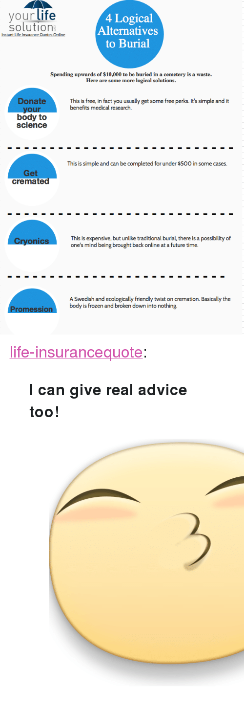 Your Life 60 Logical Alternatives To Burial Solution Instant Life Fascinating Instant Life Insurance Quote