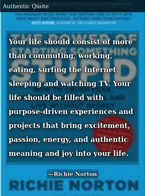 Your Life Should Consist Of More Than Commuting Working