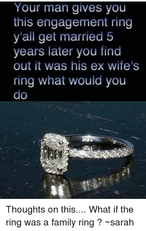 how to get a ring from your man