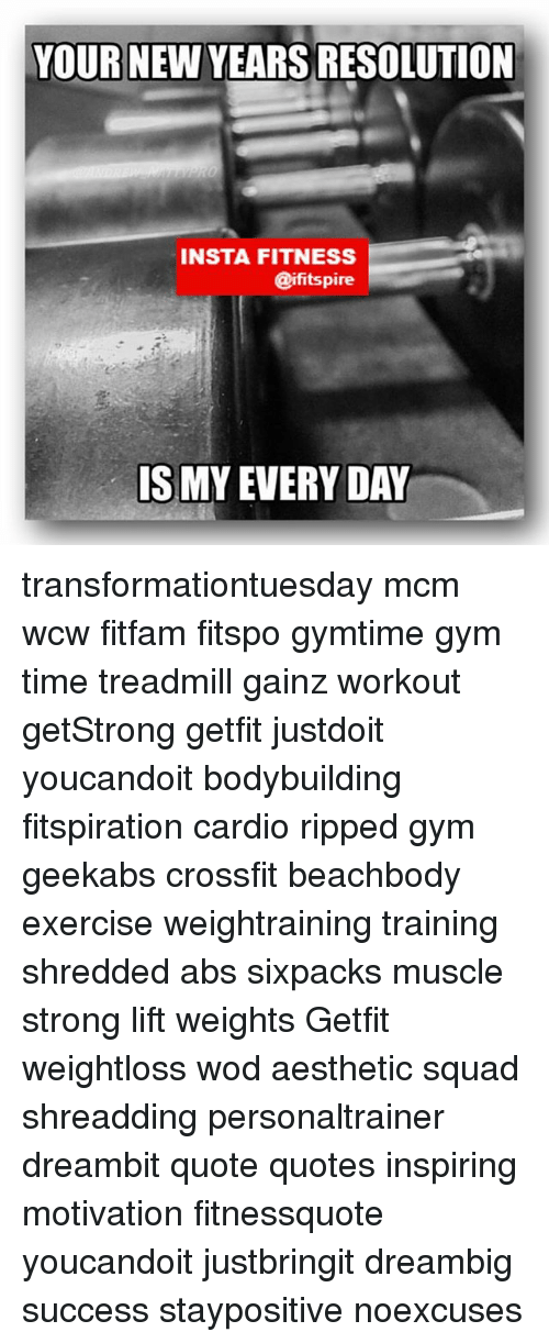YOUR NEW YEARS RESOLUTION INSTA FITNESS IS MY EVERYDAY ...