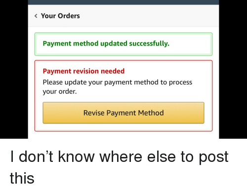 Your Orders Payment Method Updated Successfully Payment