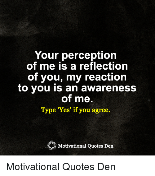 Your Perception Of Me Is A Reflection Of You My Reaction To You Is