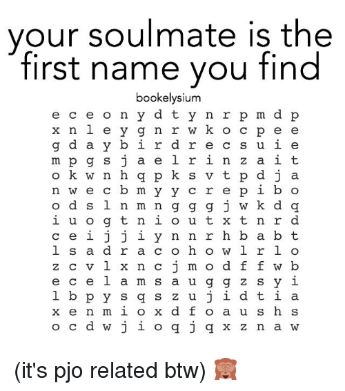 whats the name of your soulmate