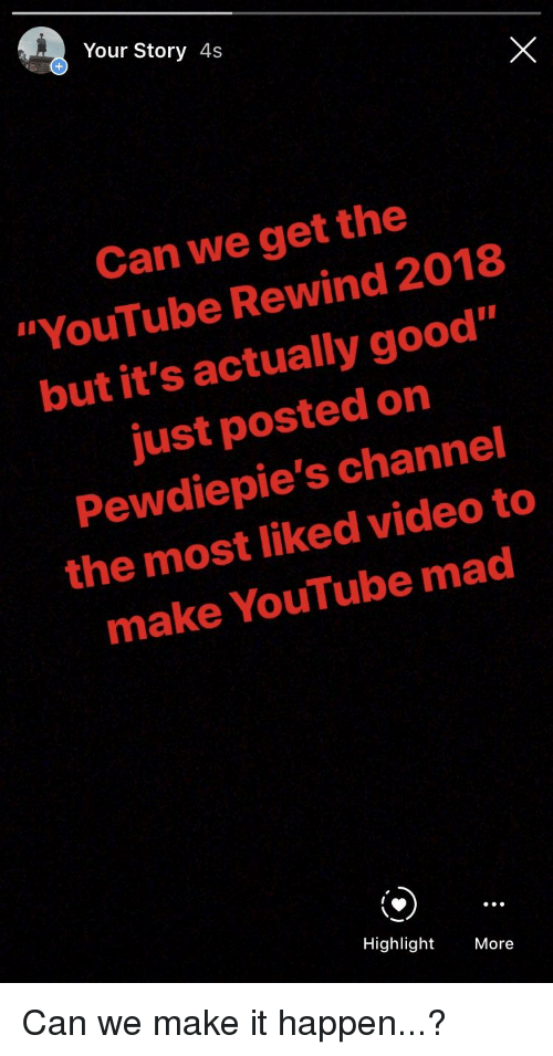 29cf6d3a9df8c1 Your Story 4s Can We Get the YouTube Rewind 2018 but It s Actually ...