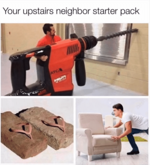 Starter Pack, Atc, and Cave: Your upstairs neighbor starter pack  ATC  HILLTY  CAVE
