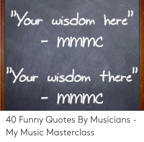 Your Wisdom Here Mmmc Your Wisdom There Mmmc 40 Funny Quotes ...