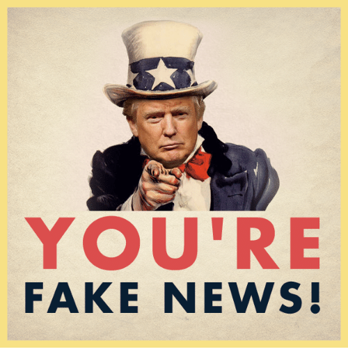Fake, News, and Conservative: YOU'RE  AR WERS  FAKE NEWS!