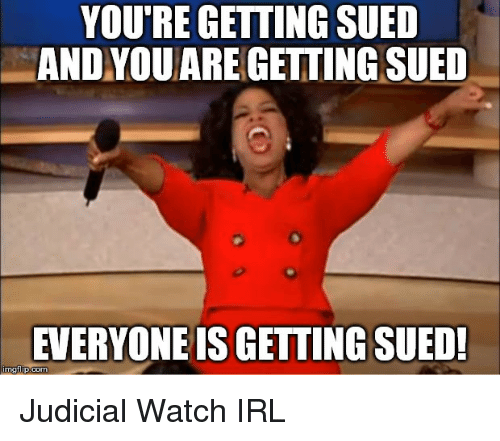 Image result for you sued me meme