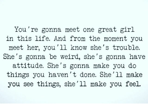 How do you know when you meet the one