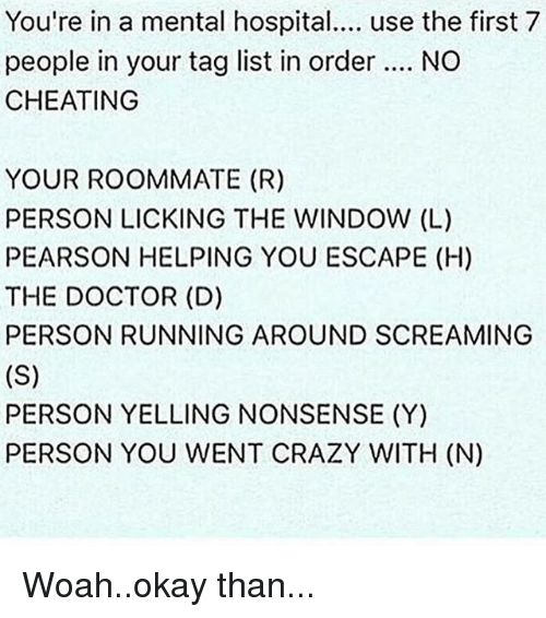 how to put a crazy person in a mental hospital