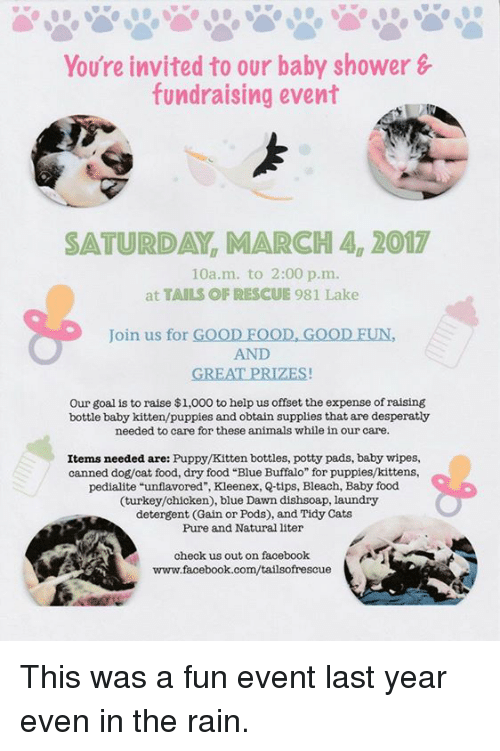 you re invited to our baby shower fundraising event saturday march