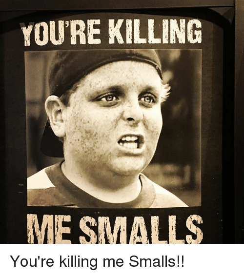 Memes, 🤖, and Youre: YOU'RE KILLING  ME SMALLS You're killing me Smalls!!