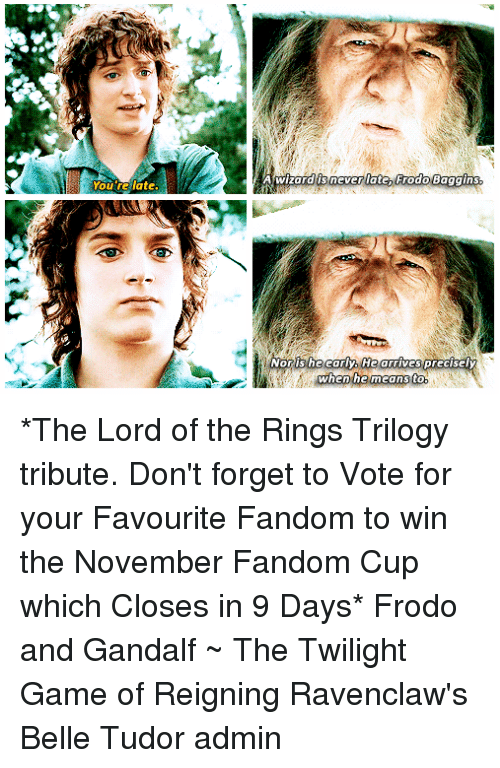 25+ Best Memes About A Wizard Is Never Late Frodo Baggins