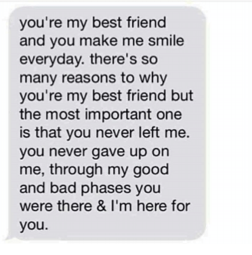 you re my best friend and you make me smile everyday there s so many