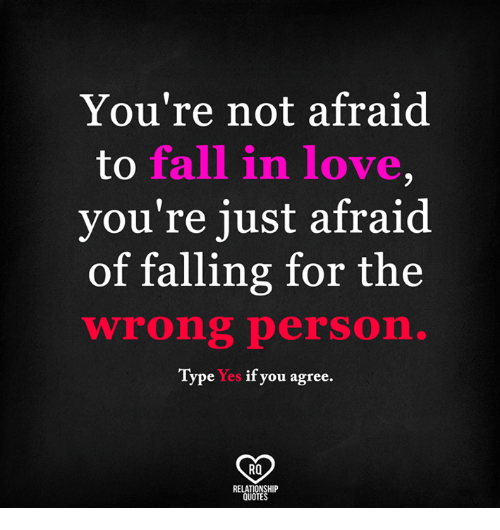 Youre Not Afraid To Fall In Love Youre Just Afraid Of Falling For