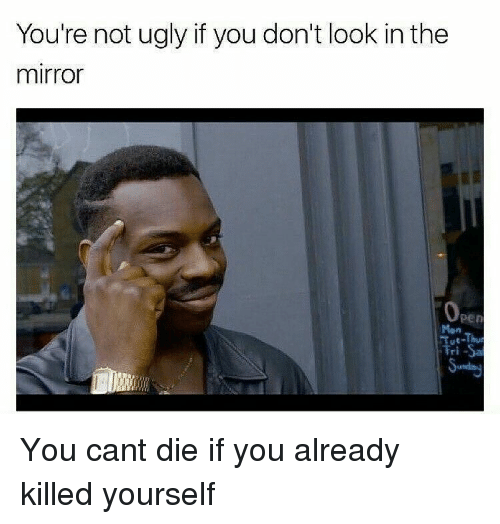 You Re Not Ugly If You Don T Look In The Mirror Mon You