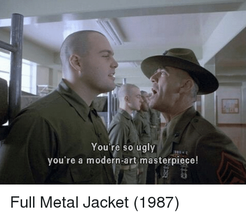 You Re So Ugly You Re A Modern Art Masterpiece Full Metal Jacket