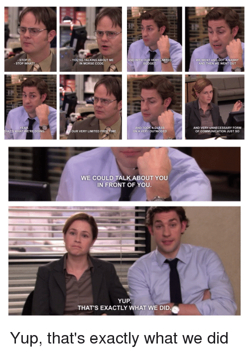 the office morse code episode