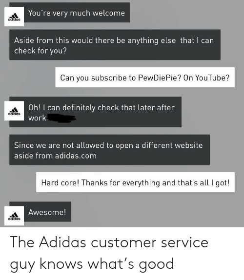 Adidas Subscribe to Pewdiepie | Adidas Meme on ME.ME