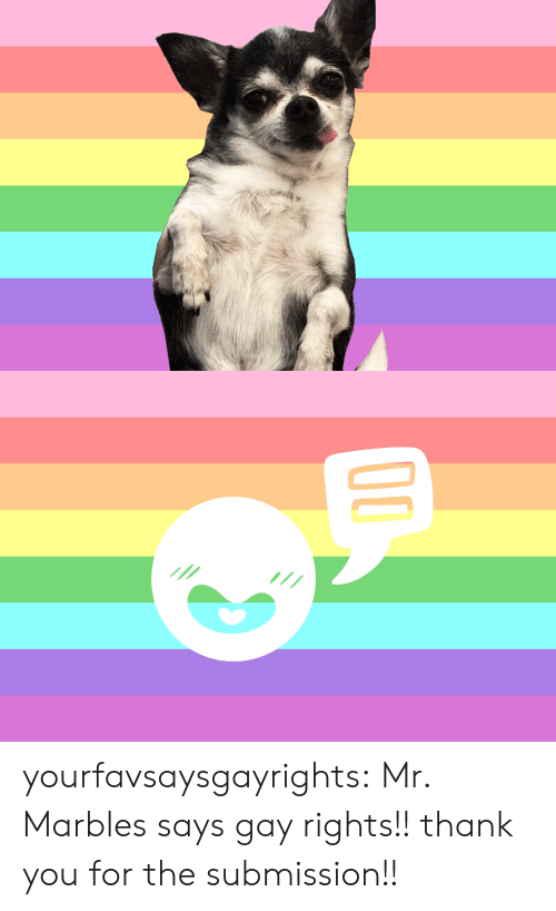 Target, Tumblr, and Thank You: yourfavsaysgayrights: Mr. Marbles says gay rights!! thank you for the submission!!