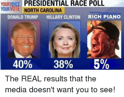 yourvoice presidential race poll yourvote north carolina donald trump hillary 6861167 ✅ 25 best memes about donald trump hillary clinton donald