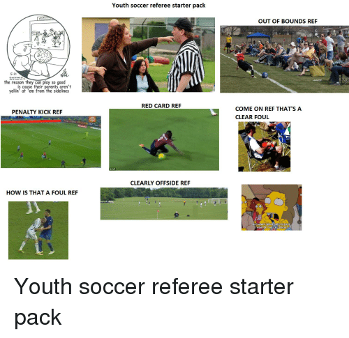 Youth Soccer Referee Starter Pack OUT OF BOUNDS REF 5-2 the