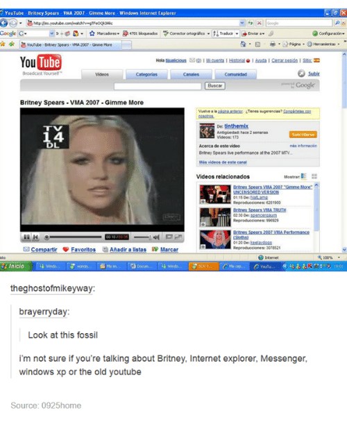 youtube b ney spears vma 2007 gimme more windows internet 2432720 ✅ 25 best memes about old youtube old youtube memes