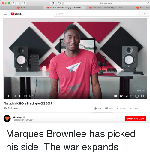 Youtubecom Reddit the Tech MKBHD Is Bringing to CES 2019