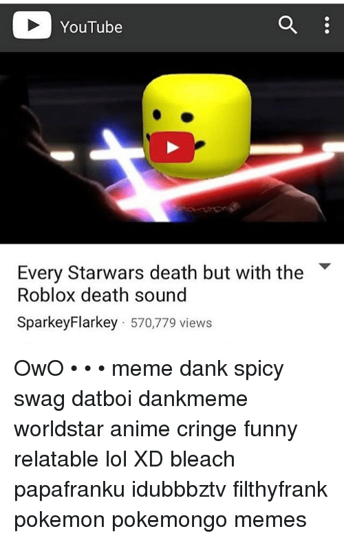 YouTube Every Starwars Death but With the Roblox Death Sound